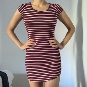 Red and White Stripe MINI dress